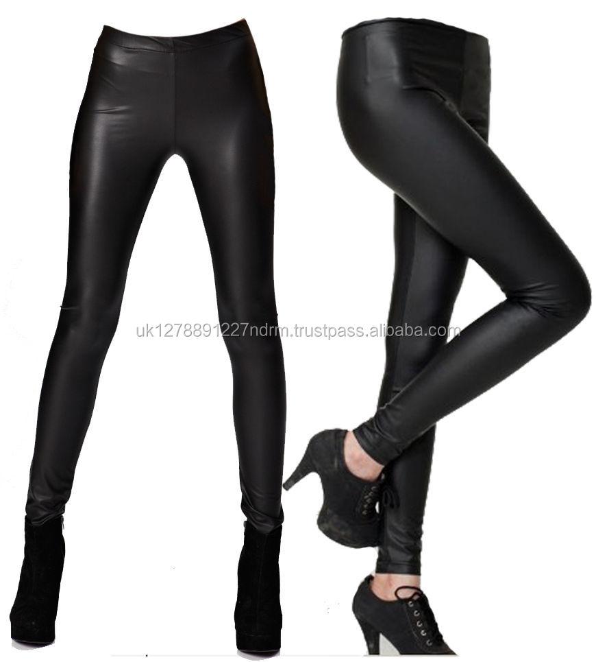 Wet Look Full Ankle Length Leggings All Sizes!