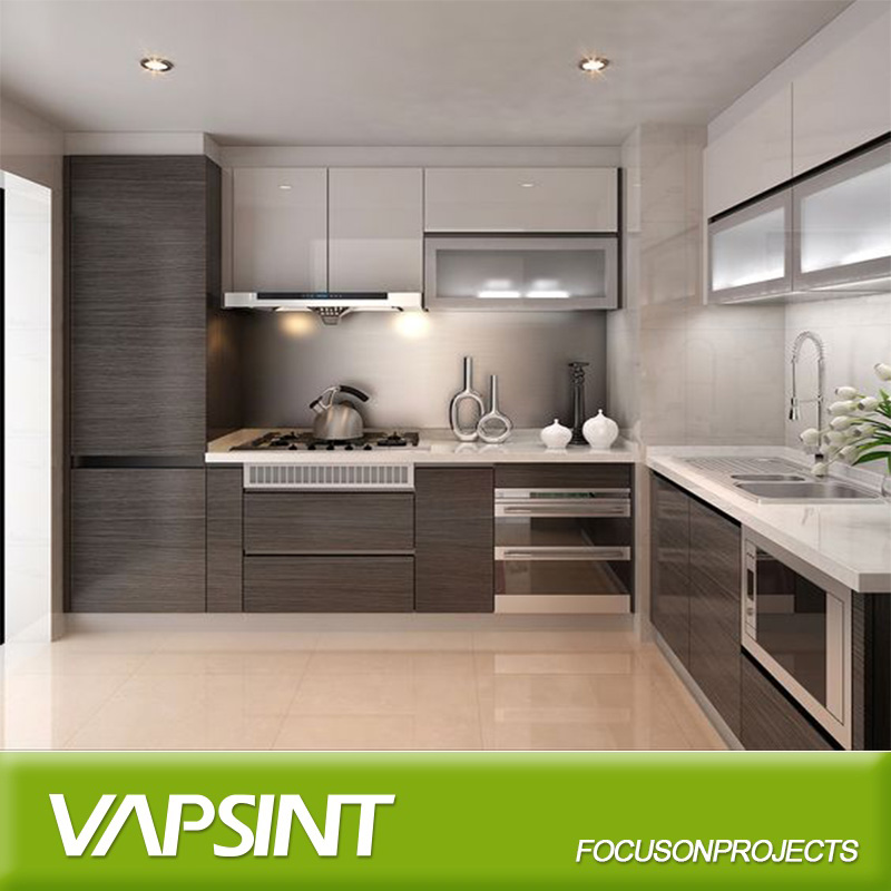 Attractive Custom Made New Model Kitchen Cabinet With Free Design