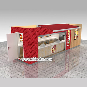 Most popular outdoor fast food kiosk & retail pizza shop counter furniture design
