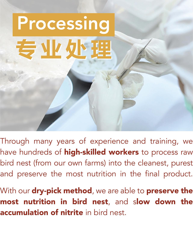 Kuş yuvası konsantresi 55g 2.75g kurutulmuş yuva bal akide şekeri (daha az şeker)