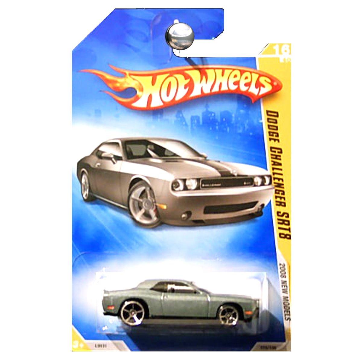 Hot Wheels 2008 New Models Dodge Challenger SRT8 Grey Gray Silver with Black Stripes