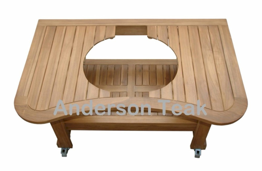Teak Bbq Serving Trolley