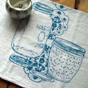 100% cotton crush crinkle cotton tea kitchen towel tea towel made in india