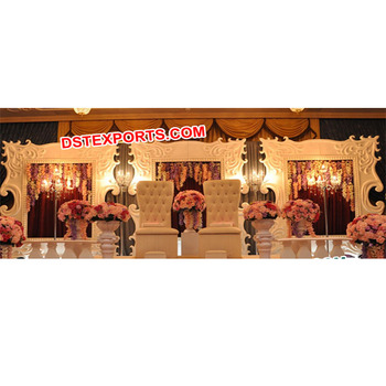 Beautiful Wedding Screen Stage Stylish Wedding Frame Stage English Wedding Fiber stage Frames