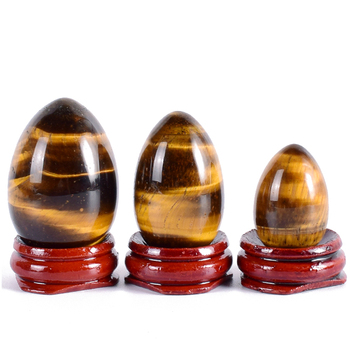 Natural tiger eye Gemstone eggs : Agate Tiger Eye Gemstone Eggs From Khambhat