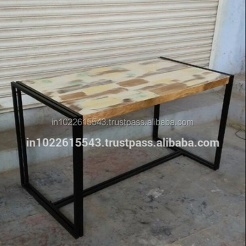 Industrial Reclaimed Wood Cafe Table,Modern Industrial Restaurant Cafe  Table - Buy Solid Wood Cafe Table,Distressed Wood Tables,Wooden Restaurant  ...