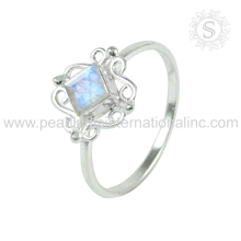 Rainbow moonstone silver rings 925 sterling silver jewellery suppliers jaipur handmade silver jewellery online