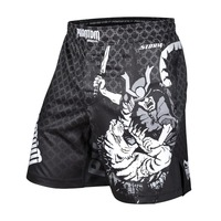 Make your own custom printed sublimation 4 way stretch mma shorts