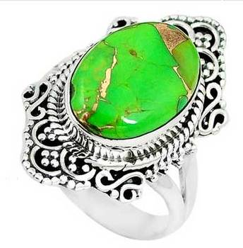 ac0f80aa1017 Anillo de turquesa de Plata de Ley 925 anillo de piedras preciosas de plata  joyería hecha
