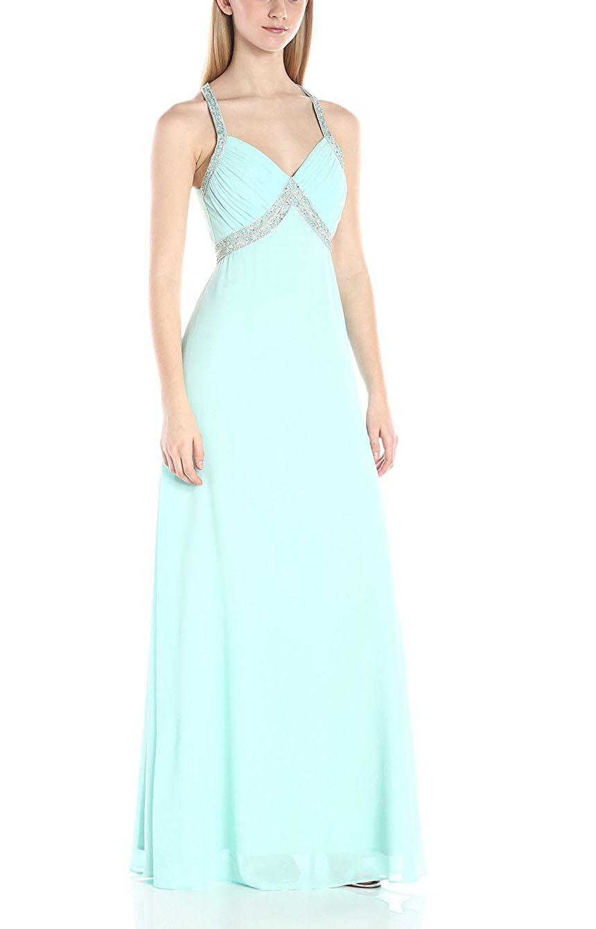 New Arrival Korean Prom Dresses Girls Party Beaded Chiffon Maxi ...