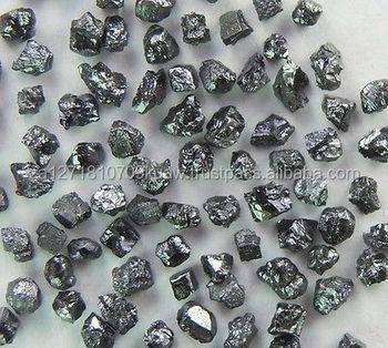 natural uncut black diamonds