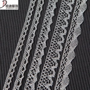 Factory Directly Supply Variety Chemical Border Silver Decorative Lace Trim