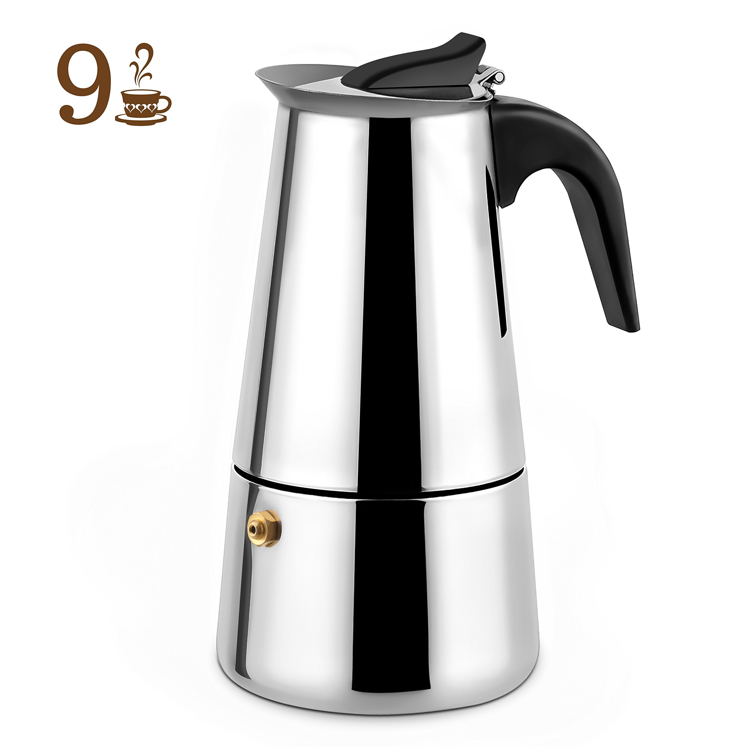 Cheap Manual Espresso Pot Find Deals On Line At Rok Presso Maker Classic Get Quotations Stovetop Stainless Steel Moka Coffee 9 Cup By Youlanda