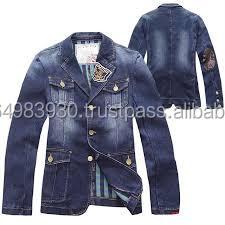 Mens Designer Denim Jeans Jacket - Buy Heavy Denim Jacket,Boys ...