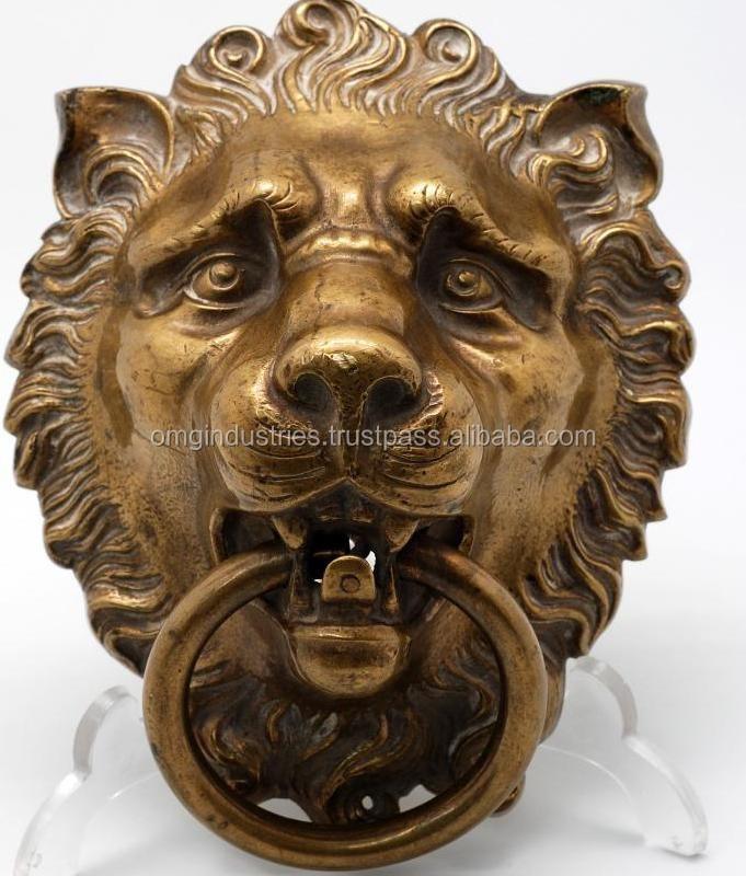 Decorative Lion Head Door Knocker