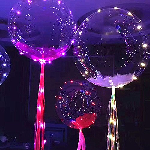 18 Inch New Arrive Led Clear Bubble BOBO Balloon For Christmas and Party Decoration