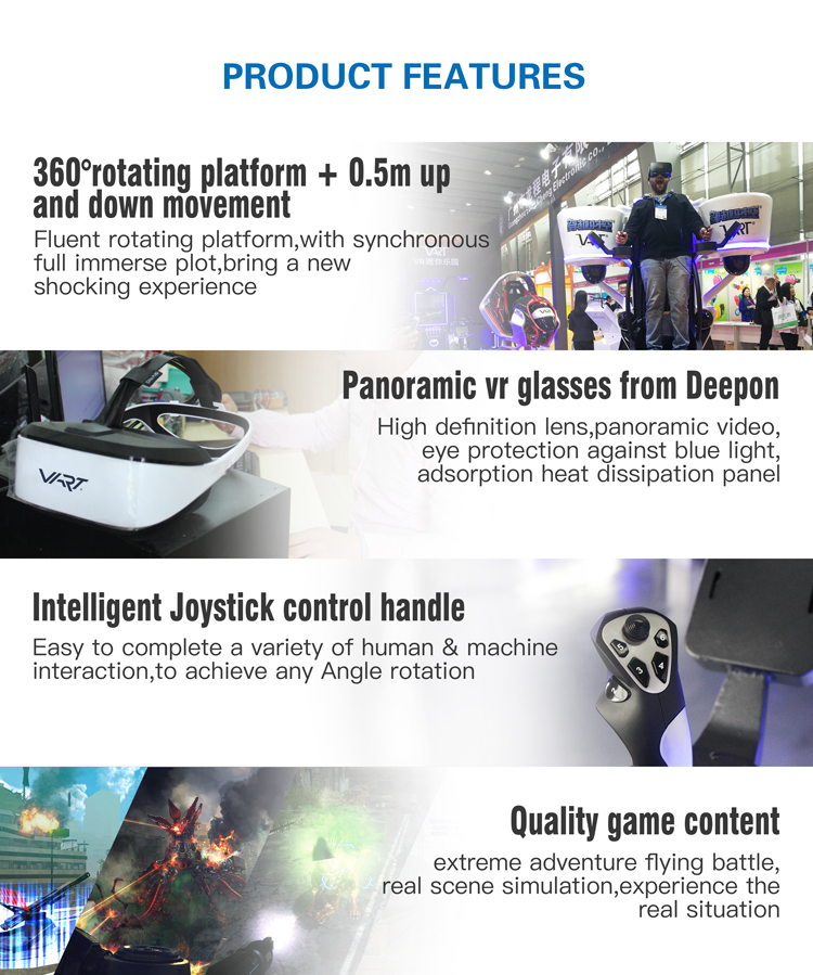 Incredilble تجربة 9D VR الواقع الافتراضي تحلق الدائمة VR الطيران محاكاة للبيع
