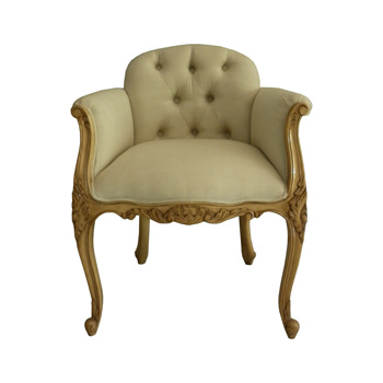 Indonesia Furniture French Louis Upholstered Low Back Bedroom Chair Product On