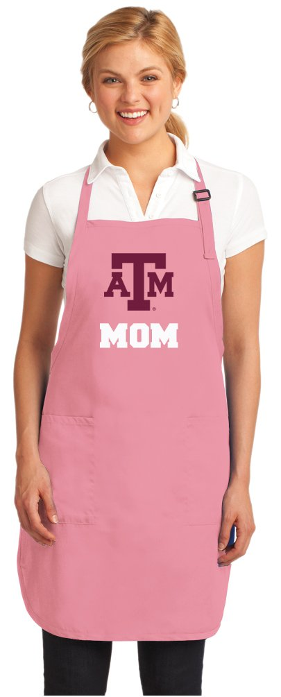 Pink Texas A&M Mom Apron DELUXE Texas A&M Aggies Mom Aprons MADE IN THE USA