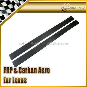 For Lexus IS250 Carbon Fiber Side Skirt Add On Extension