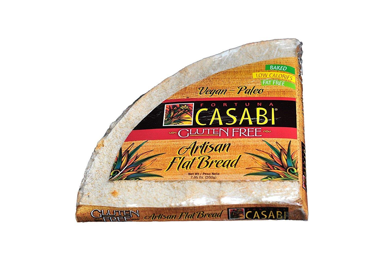 Casabi Casabe Artisan Flatbread (Cassava Bread), Naturally Gluten-Free (GF), Vegan, Paleo, Low Fodmap, AIP Friendly, Made of 100% Yuca Root. 7 oz/pack (2-Pack)
