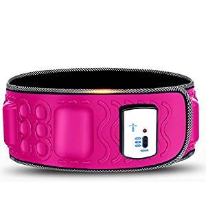 Pink Waist Trimmer Belt, Slimmer Belt & Sweat Belt for Women and Men - Best Belly Burner Belt, Waist Belt, Back Support, Abs Workout, Aids in Slimming & Weight Loss Belt.