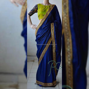 Featuring A new saree Most Awaited Color With Heavy Coding work Blouse with Designer Heavy Work Lace On saree border