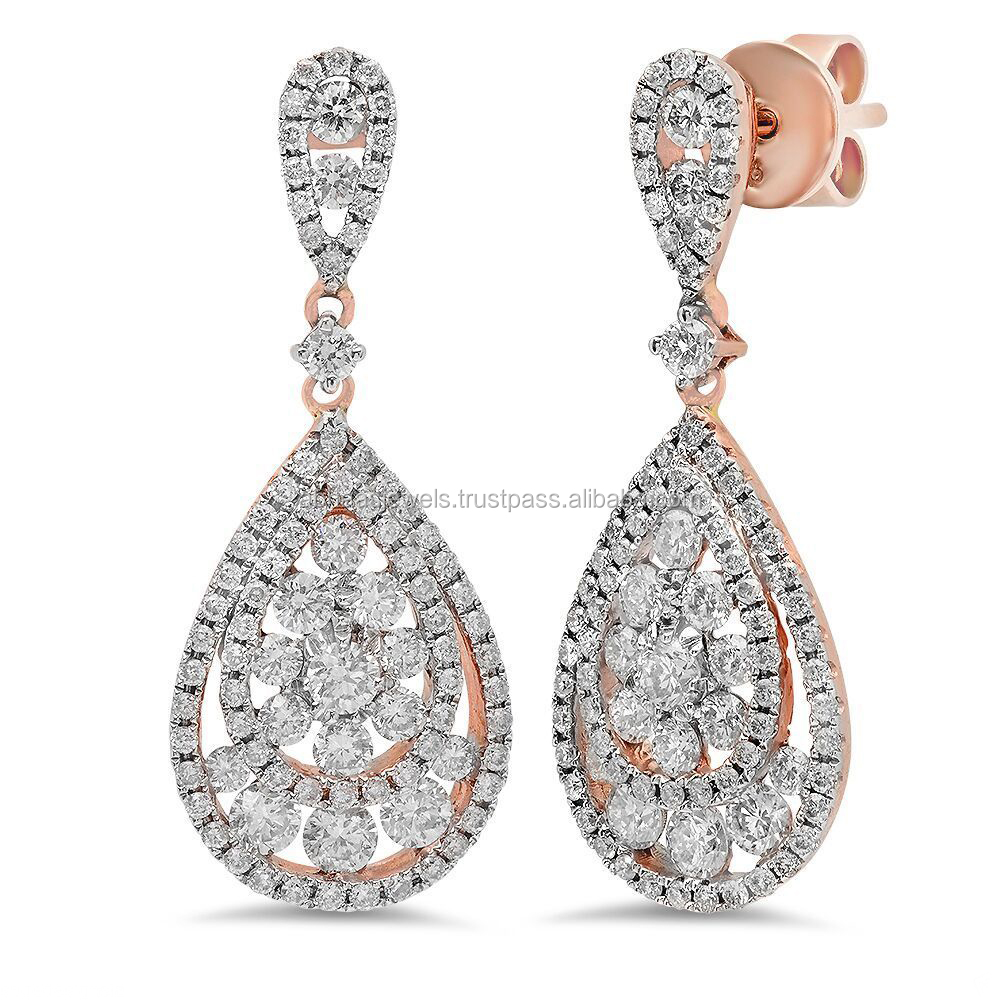 earrings gold diamond carat fashion karat alkd stud