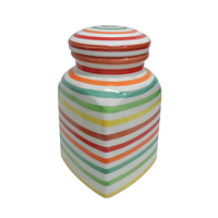 Colorful Small Storage Ceramic Jar