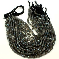 Flashy Labradorite Smooth Rondelle Beads AAA Quality