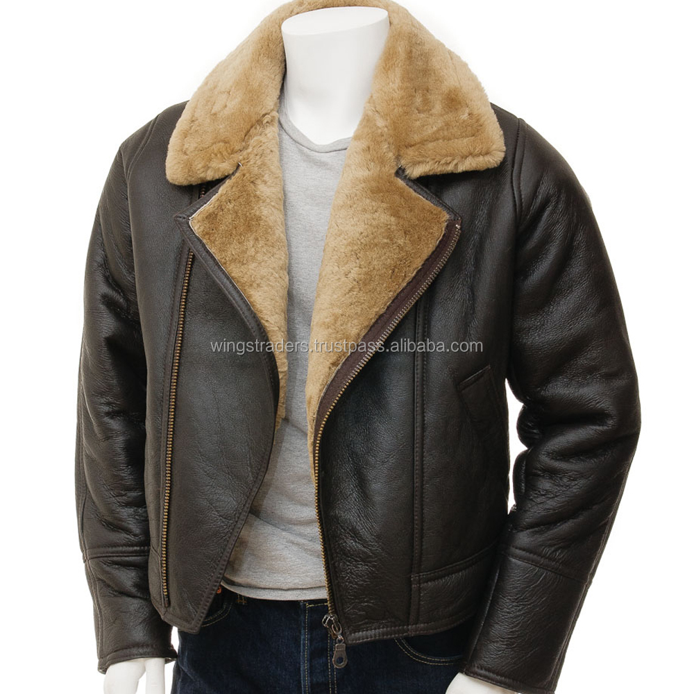 enjoy big discount best value top fashion Pilot Bomber Leather Jacket With Fur Lining/ww1 Pilot Bomber Fur Leather  Jacket - Buy Fur Leather Jacket For Men,Pilot Bomber Fur Leather Jacket,Ww1  ...