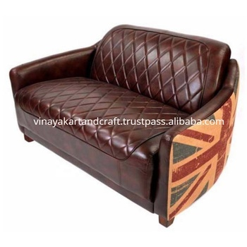 Vintage Industrial Leather Sofa Jodhpur Antique Style Union Jack Sofa  English Style Victorian Design Union Jack Leather Sofa - Buy Union Jack ...