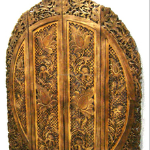 Carved Wood Panels Hand Crafted Living Room Partition Design Folding Wooden Screen Room Divider