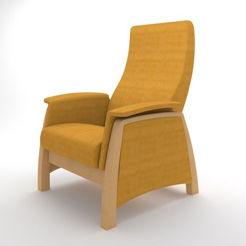 G1 Yellow Wooden Arm Chairs for Sale