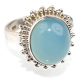 Amazing Blue Fire Chalcedony 925 Sterling Silver Oval Shape Ring, Exporter And Wholesaler, Unique Silver Jewelry