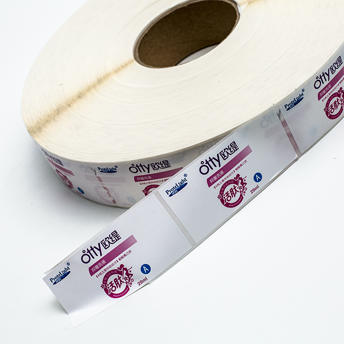 custom personalizadas etiquetas roll digital printing matte white sticky labels sticker for smooth bottle surface