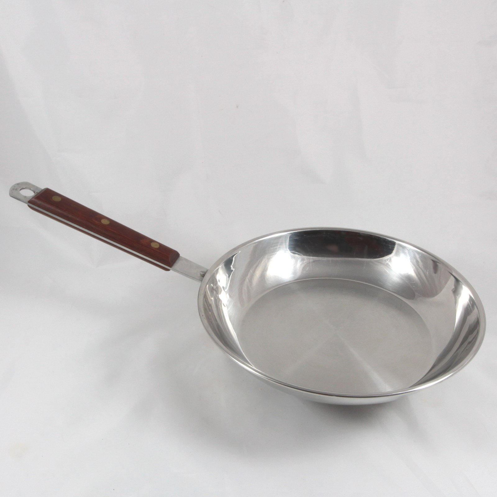 Vintage Cuisinarts Classic Cookware Stainless Steel Wood Handle, Skillet, 10-Inch