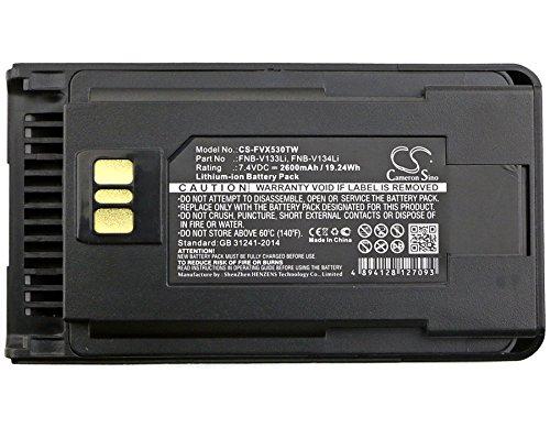Cameron Sino 2600mAh Li-ion High-Capacity Replacement Batteries for Vertex VX-260, VX-261, EVX-530, EVX-531, EVX-534, EVX-539, fits Vertex FNB-V133Li, FNB-V134Li
