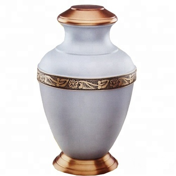 Decorative Brass cremation urn with color finish