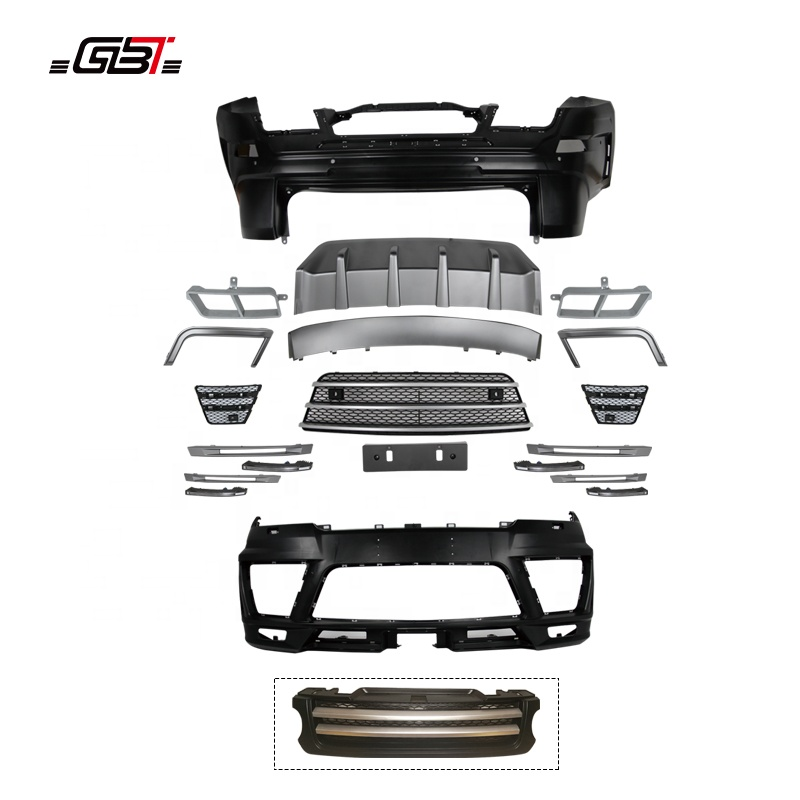 GBT body kits front rear bumper plate air-inlet grille DRL Case exhaust pipe for year 2014-2017 for Land Rover Range Rover SPORT