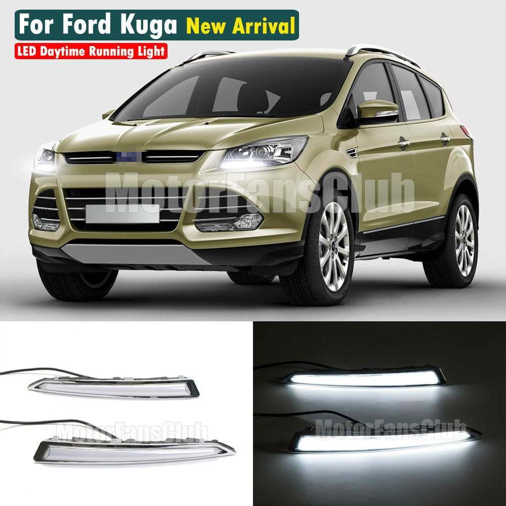 MotorFansClub LED Daytime Running Light For Ford Kuga Escape Fog Lamp DRL 2013-2016