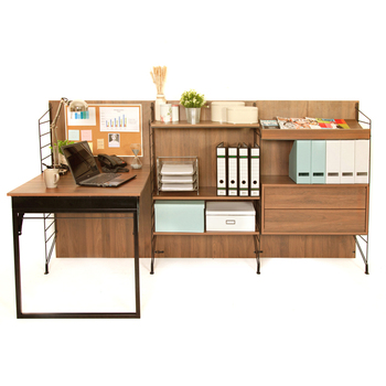 Ezbo Office Furniture Foldable Table With Cabinet Wooden Feet - 4 feet office table