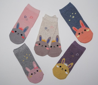 Cute Korean bunny baby socks for newborn baby 1-2years old