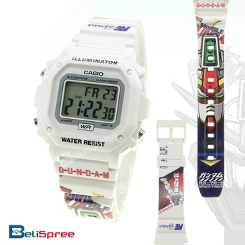 c792eb223 Casio F-108whc-7b Gundam Rx-72-2 Unisex Illuminator White Resin Band ...