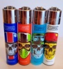 Brand New 4 Clipper Lighters Skulls 9 Collection Full Series Refillable Lighters