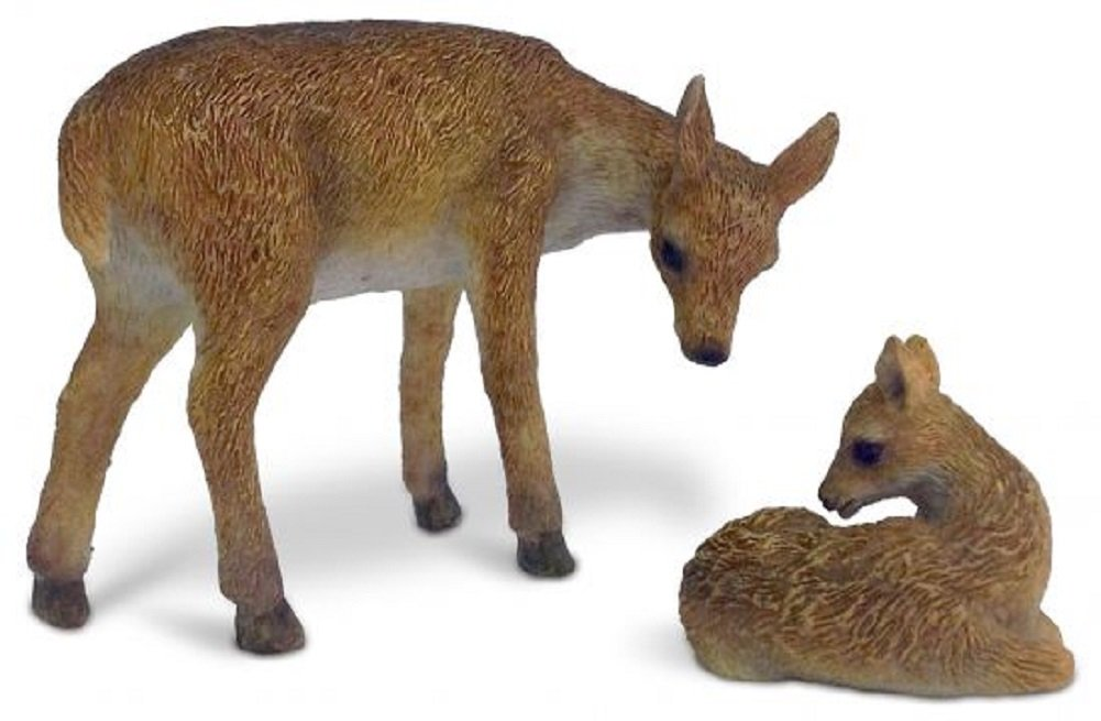 Deer and Fawn Miniature Fairy Garden Resin Figurine