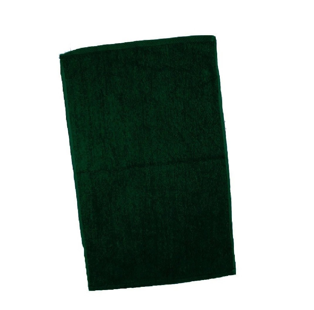 Economical and Quality Towel Set ! 100 % Cotton Terry Velour Fingertip Towels, Hand & Face Towels, Home and Sports Towels (3, Forest Green)