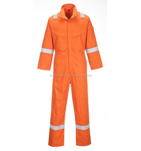 100% COTTON FLAME RETARDANT WORKWEAR FR COVERALLS FOR WELDING INDUSTRY