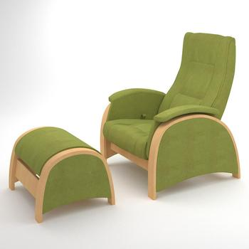 Armchair with footrest G2&P2 (Apple Green)