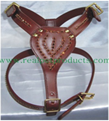 Unique Decoration Leather Dog Body Harness